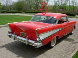 1955-57 Chevy Restored 2-Door Hardtop Backglass Upper Stainless Steel Molding - Image 2