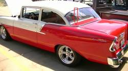 1955-57 Chevy Restored 2&4-Door Sedan Backglass Left Lower Stainless Steel Molding - Image 2