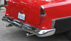 "1955 Chevy California ""Smoothie"" Style Chrome Rear Bumper - Image 2"