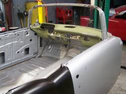 1955-57 Chevy Convertible Front Upper Header On Body - Image 2