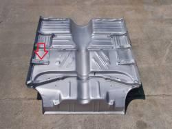 1955-57 Chevy 2-Door Hardtop & Convertible Right Floor Brace Behind B-Pillar - Image 2
