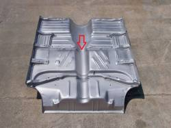 1955-57 Chevy Long Floor Brace Under Front Seat All Except Convertible & 4-Door Hardtop - Image 2