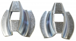 1955 Chevy Rear Bumper End Spacers Pair - Image 3