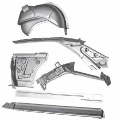 Chevy II Nova - Quarter Panel - 1966-67 Chevy II 2-Door Hardtop Left Body Side Assembly