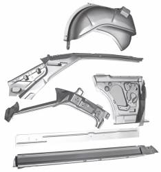 Chevy II Nova - Quarter Panel - 1966-67 Chevy II 2-Door Hardtop Right Body Side Assembly