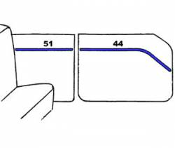 1955-57 Chevy - Interior - 1955 Chevy 210 2-Door Sedan Interior Side Panel Trim 4-Piece Set