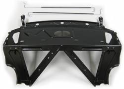 Chevy II Nova - Rear Deck Panel/Package Tray - 1966-67 Chevy II 2-Door Hardtop Rear Package Shelf/Seat Back/Trunk Hinge Structure