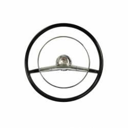 "1957 Chevy Bel Air Black 18"" Steering Wheel Kit Complete - Image 1"