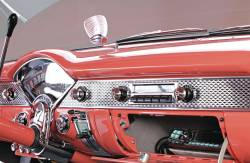 1955 Chevy Bel Air Stock Dash Trim Set With Speaker Grille Script - Image 3