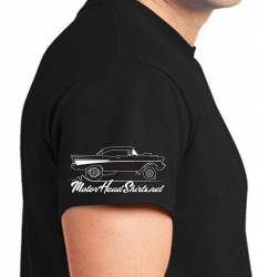 Black 1957 Chevy 100% Cotton T-Shirt Large - Image 3