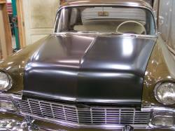 1956 Chevy Steel Custom Smoothie Hood Complete - Image 4