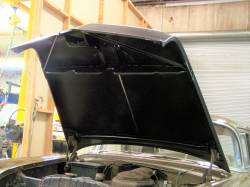 1956 Chevy Steel Custom Smoothie Hood Complete - Image 6