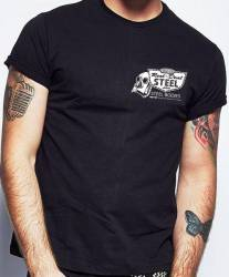 Black Real Deal Steel 100% Cotton T-Shirt Large - Image 2