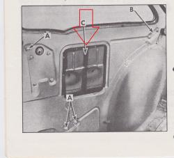 1955-57 Chevy 2-Door Sedan Right Rear Inner Quarter Access Cover - Image 2