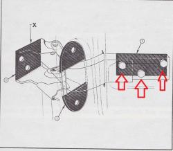 1955-57 Chevy Door Hinge To Door Bolt Set - Image 2