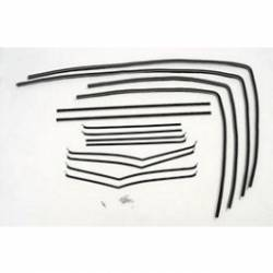1955-57 Chevy - Side Glass - 1955-57 Chevy 2-Door Sedan Side Glass Fuzzy Channel Kit