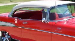 1955-57 Chevy 2-Door Hardtop Or Convertible Quarter Window Stainless Steel Beltline Trim Screws - Image 2