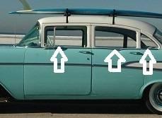 1955-57 Chevy 210 4-Door Sedan Beltline Stainless Steel Molding Clip Set - Image 2