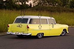 1955-57 Chevy 210 2-Door Wagon Complete Upper & Lower Roofline/Beltline Clip Set - Image 2