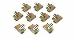 1955-57 Chevy - Convertible Top - 1955-57 Chevy Convertible Stainless Steel Boot Snap Trim Clip Set