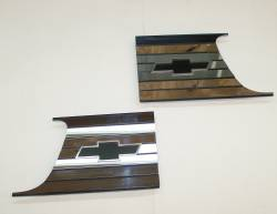 1957-58 Chevy Cameo Truck Chrome Bed Inserts Pair - Image 3