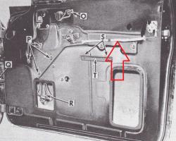 1955-57 Chevy 2-Door Hardtop & Convertible Inner Door Release Rods Pair - Image 2
