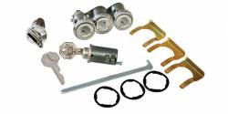 1955-57 Chevy - Trunk - 1956 Chevy 2-Door Hardtop & Convertible 5-Piece Lock Set
