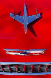 1955 Chevy Hood Emblem  Assembly - Image 2
