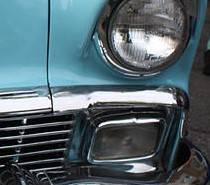 1956 Chevy Chrome Hoodbar Extensions Pair - Image 2