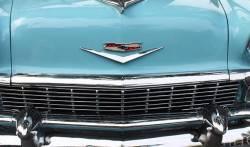 1956 Chevy Chrome Hoodbar - Image 2