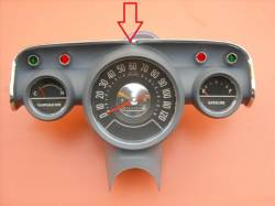 1957 Chevy Chrome Instrument Cluster Bezel - Image 2