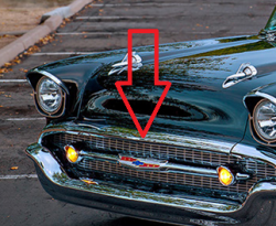 1957 Chevy Chrome Hoodbar - Image 2
