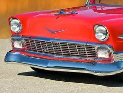 1956 Chevy Chrome Hoodbar And Extensions Set - Image 2