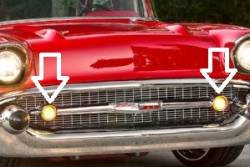 1957 Chevy Grillebar Parking Light Housings Pair - Image 2