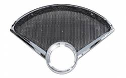 1955-57 Chevy - Dash - 1955-56  Chrome Clock Speaker Bezel With Speaker Grille