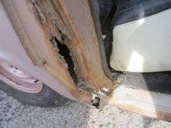 1957 Chevy 4-Door Sedan & Station Wagon Right Quarter Panel Door Jamb Dogleg Repair Panel - Image 2