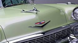 1956 Chevy Chrome Hood V - Image 2
