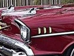 1957 Chevy Gold Fender Louvers Set - Image 2