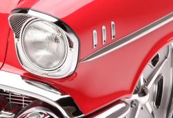 1957 Chevy Chrome Fender Louvers Set - Image 2