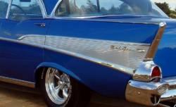 1957 Chevy Bel Air 4-Door Hardtop Aluminum Quarter Panel Inserts Pair - Image 2