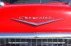 1957 Chevy Chrome Hood V - Image 2