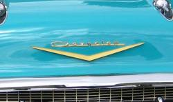 1957 Chevy Gold Hood V - Image 2