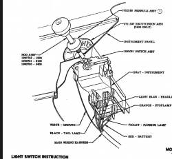 1955-56 Chevy Headlight Switch - Image 2