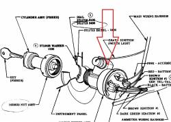 1955-56 Chevy Ignition Switch - Image 2