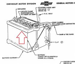 1955-56 Chevy Battery Hold Down Kit - Image 2