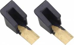 1955-57 Chevy 2&4-Door Hardtop And Convertible Upper Vent Window Stops Pair - Image 1