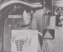 1956-57 Chevy 4-Door Hardtop & 1957 2&4-Door Sedan Back Glass Drain Seals And Tubes Pair - Image 2