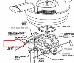 1955-57 Chevy Fuel Filter & Bowl Assembly - Image 2