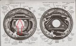 1955-57 Chevy Rear Brake Shoe Spreader Bar - Image 2