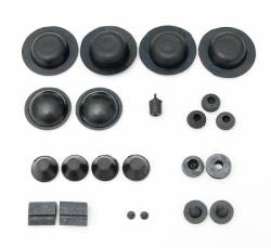 1955-57 Chevy - Floor - 1956-57 Chevy 4-Door Hardtop Body Grommet Set